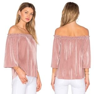 Anthro Felicity Ruffle Pleated Off Shouler Blouse